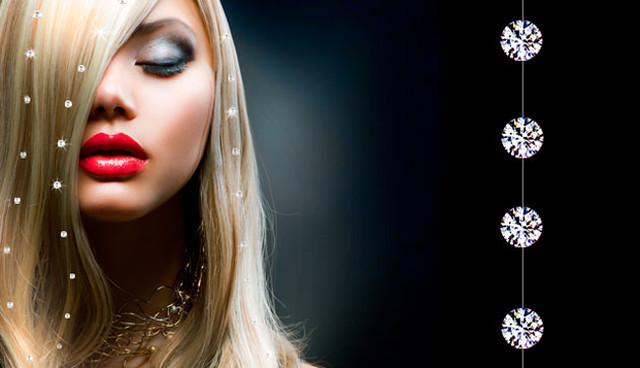 стразы на волосах (нити)
