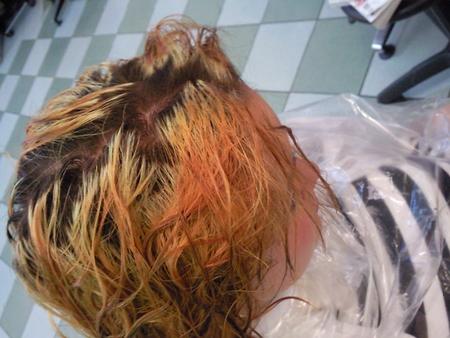 волосы сразу после смывки